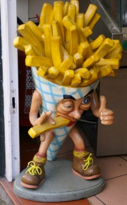 french fry statue